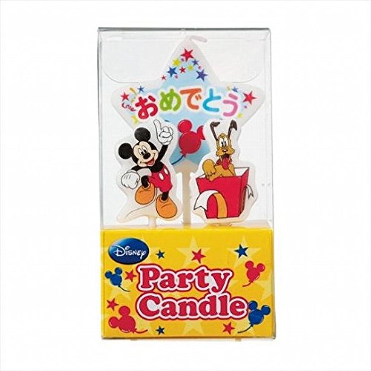 予防接種するビルダーメナジェリーkameyama candle(カメヤマキャンドル) ディズニーパーティーキャンドル【ケーキ用キャンドル】 「 ミッキー 」(A3120010)