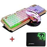 Lexonelec clavier Gaming Mouse Définit Combo filaire V1 à rétroéclairage LED...
