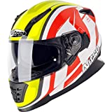 Nitro 187221XL18 NRS-01 Pursuit DVS Motorcycle Helmet XL White Safety Yellow Red (18)