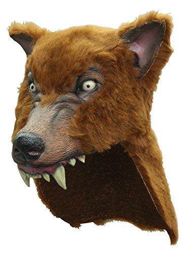 Máscara Marrón Casco Lobo Lobos Animal Hombre Lobo Halloween