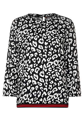Street One Damen 341725 Bluse, Mehrfarbig (Black 20001), (Herstellergröße:40)