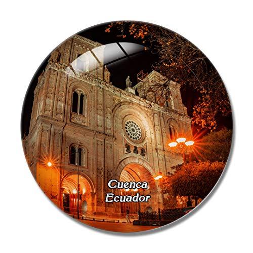 Ecuador Cathedral Of Cuenca 3D Fridge Refrigerator Magnet Whiteboard Magnet Souvenir Crystal Glass