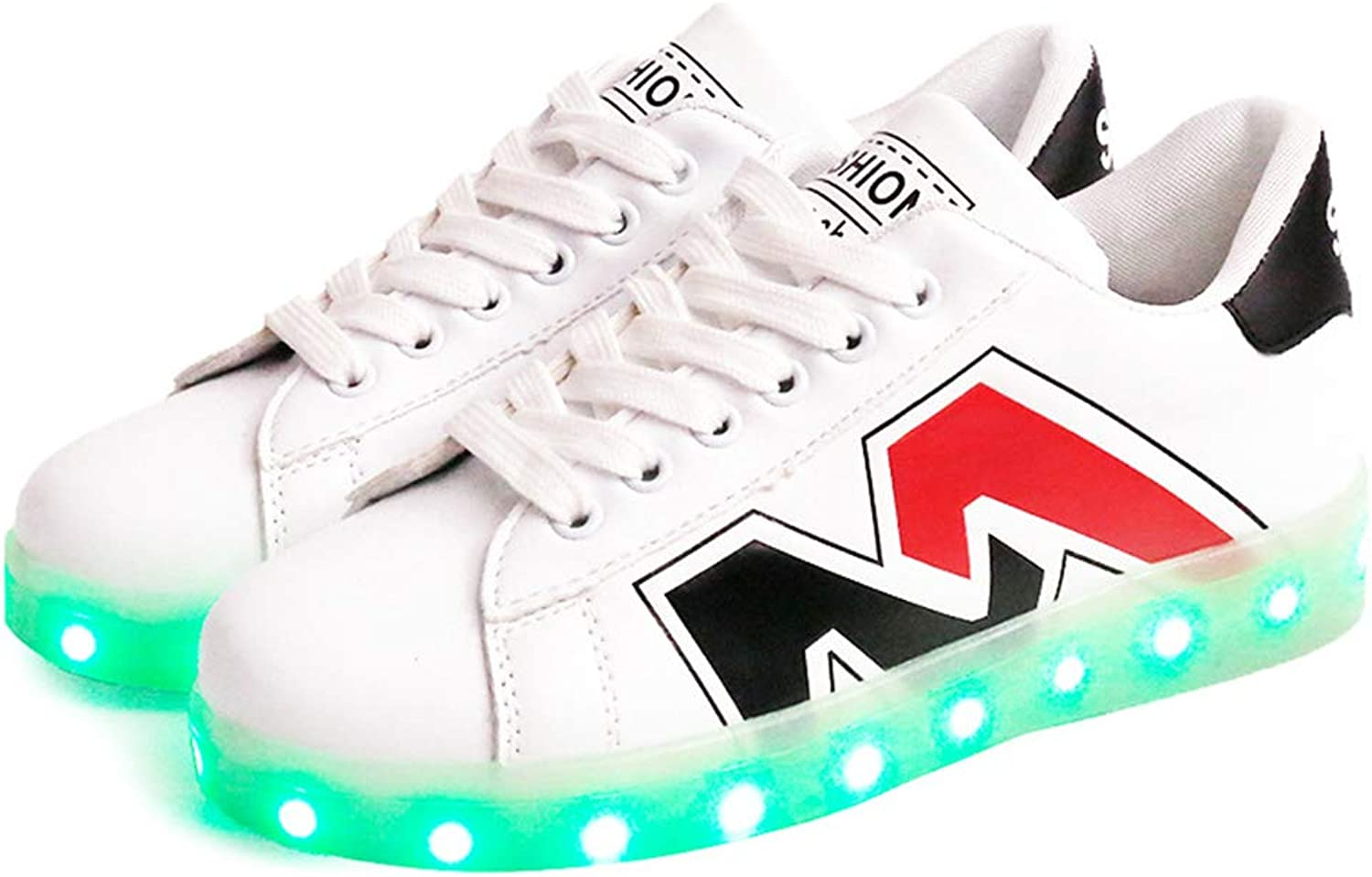LUOBM LED Fluorescent shoes Fashion Camouflage Sport shoes USB Charging Couple shoes