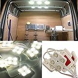 Luz LED para Interior de Furgoneta, Riloer Kit de Luces Interiores de Coche de 40 LED, Lámpara de Iluminación de Lente de Proyecto LED Ultrabrillante, Luz de Trabajo, Luz de Techo, CC 12 V