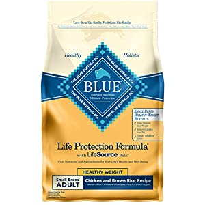 Blue Buffalo Life Protection Formula Natural Adult Small Breed Healthy Weight Dry Dog Food, Chicken and Brown Rice 6-lb