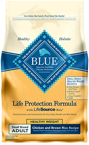 Blue Buffalo Life Protection Formula Healthy Weight Small Breed Dog Food , Natural Dry Dog Food for Adult Dogs , Chicken and Brown Rice , 6 lb. Bag