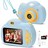 WELVAN Digital Camera for Kids - Children Video Cameras with 32GB SD Card for Boys and Girls - 1080P HD Video Recorder Kids Camera Toys Creative DIY Camcorder for Birthday/Christmas/New Year Gifts