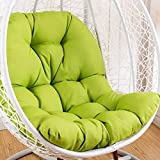 qwert Hanging Chair Cushion, Cradle Papasan Swing Chair Cushion Not-slip Basket Wicker Chair Pads Adult Rocking Indoor Balcony Pad Without Stand -green