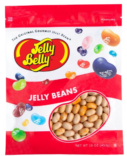 Jelly Belly Caramel Corn Jelly Beans - 1 Pound (16 Ounces) Resealable Bag - Genuine, Official, Straight from the Source