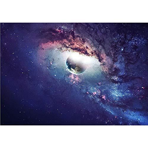 Fotobehang Fotobehang Heelal Scène met planeten, sterren en sterrenstelsels in de ruimte Verwijderbare muursticker Muurstickers-150x105 cm (59,1 bij 41,3 inch)