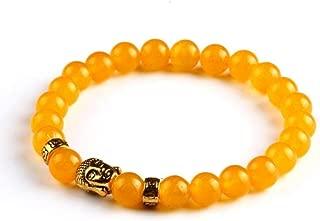 Lava Stone Onyx Bead Buddha Gold Bracelet Jewelry Black Yoga bracelets Men Women Fashion Jewelry