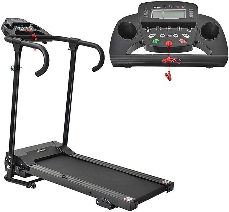 Tapis roulant elettrico pieghevole motorizzato per corsa e jogging walking, 12 pre-programmi 10km/h B08H8GVM87