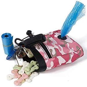 AILOVA Sac Friandise Chien Portable Sacoche Pochette De Formation Sac De Ceinture Distributeur Nourriture Jouets pour Animaux Promenade Marche