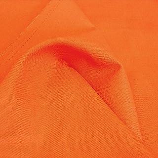 Baumwollstoff Segeltuch mittelschwer - Polsterstoff/Möbelstoff als Meterware am Stück Orange