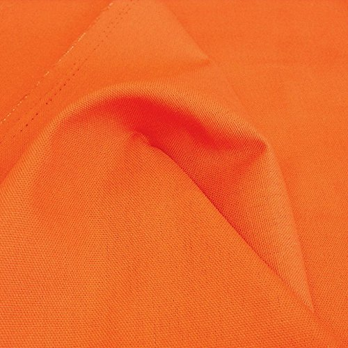 TOLKO Baumwollstoff Segeltuch mittelschwer - Polsterstoff/Möbelstoff als Meterware am Stück (Orange)
