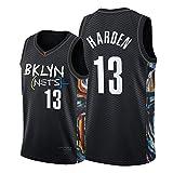 #13 Jǎmes Hǎrden バスケットボールファンシティエディションジャージー 2021 Něts メンズノースリーブスウェットシャツベストスウィングマントップ black-M