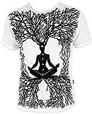 Sure Wicca Art Guru Magie Yoga Goa Trance - Camiseta para hombre Blanco M