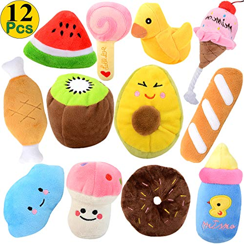 Legendog Dog Squeaky Toys, 12Pack Dog Toys Squeaky Small Dog Toys Squeaky Puppy Chew Toys Plush Dog Toy for Small Dogs with Squeakers for Small/Medium Dogs