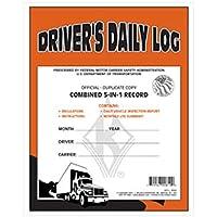 J。J。ケラー–5- in - 1ドライバの毎日のログブック、重複カーボン、12パック