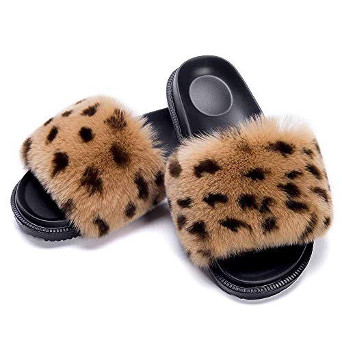 Faux Fur Flip Flop Flat Sandalen Dames Indoor Outdoor Comfortabele Soft Slip On Mega Fluffy Mules Sliders Slippers