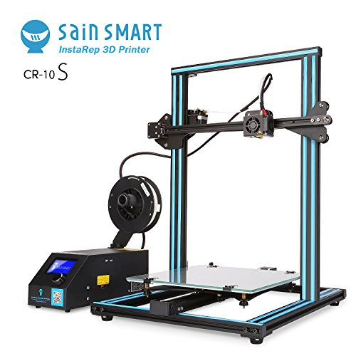 SainSmart x Creality CR-10S Semi-Assembled 3D Printer, Upgraded Dual Z Axis T Screw Rods, Filament Monitor, Resume Printing, Large Build Volume 300x300x400mm