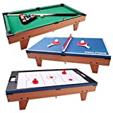 Multi Games Combination Table 3 in 1 Design Rotating Game Table Air...