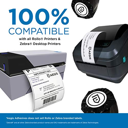 "Aegis - Compatible 30334 (2-1/4"" X 1-1/4"") Direct Thermal Labels Replacement for DYMO 30334 Barcode, UPC, FBA - for Rollo, Labelwriter 450, 4XL & Zebra Desktop Printers (12 Rolls) Photo #6"