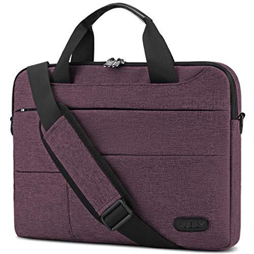 Laptop-Tasche für Herren, 33,3 cm / 14 Zoll, wasserabweisend, Aktentasche, Schultertasche, Tablet-Handgriff, Weinrot