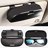 HOLDCY Sunglasses Clip Holder for Car Sun Visor - Eye Glasses Storage Box - Automotive Accessories ABS 1Pcs Apply to All Car Models (Black)