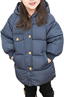 Cromoncent Girls Boys Corduroy Faux Fur Hood Fleece Lined Outwear Parka Jackets Coat