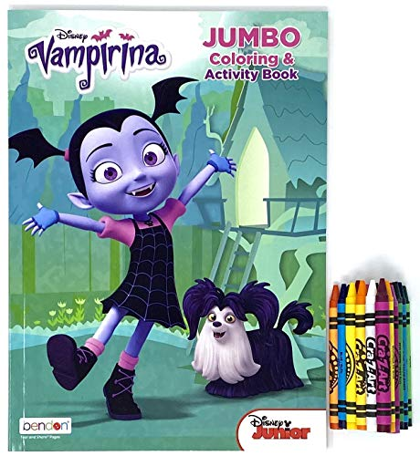 Party Deal Vampirina Jumbo Coloring & Activity Book – 1 Pack with Crayons 24 ct Multi Color