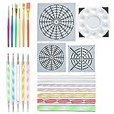 Cizen Kit de Pintura Mandala, 29 Piezas Mandala Dotting Herramientas DIY Mandala Arte Crafts Set, Adecuado para Pinturas Rupestres, Producción Artesanal