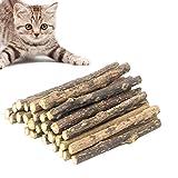 JIASHA Palitos de Catnip para Gatos, Juego de 30 palitos de Hierba gatera para Gato,Protección del Cuidado Dental, Adecuado Juguete para Gatos de Interior