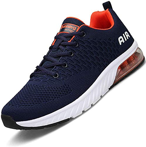Mabove Laufschuhe Herren Damen Turnschuhe Sportschuhe Straßenlaufschuhe Sneaker Atmungsaktiv Trainer für Running Fitness Gym Outdoor(Blau/HK82,43 EU)