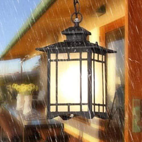 Reisx Colgante al Aire Libre Luz de lámpara IP65 Impermeable Vidrio Suspensión...