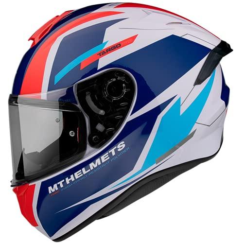 Casco Moto Integral homologado MT Targo Pro Modelo Sound D15 Rojo Perla Brillo Dot Unisex (L)