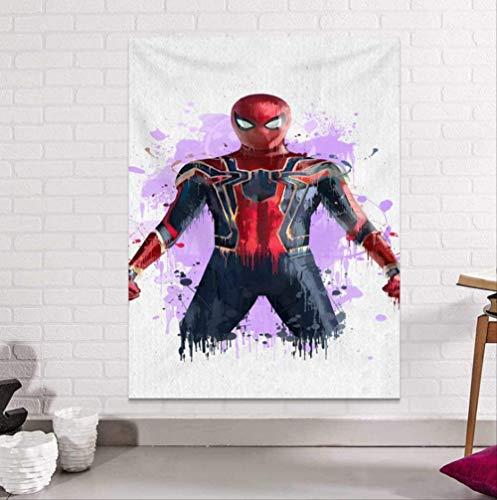 Jingrui The Avengers Tapestry Wall Hanging Brushed Fabric Sandy Beach Throw Rug Blanket Camping Tent Travel Mattress Sleeping Tapestry Captain America Hulk Iron Man Spider-Man