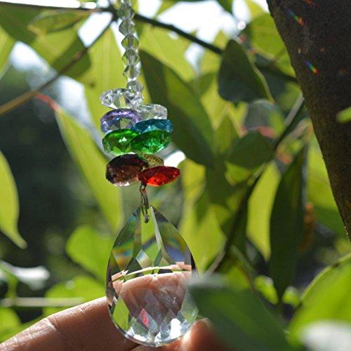 Pendentif en cristal, Hunpta Lustre Cristal arc-en-ciel Pendentif Accessoires colorés octogonale à suspendre Drop a