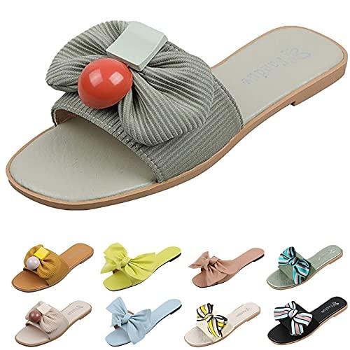 sandalo nero tacco ciabatte mare sabot donna eleganti sandali donna estivi pelle ciabatt donna sandalo argento donna basso sandali zeppa bianchi (G41-Pink,38)