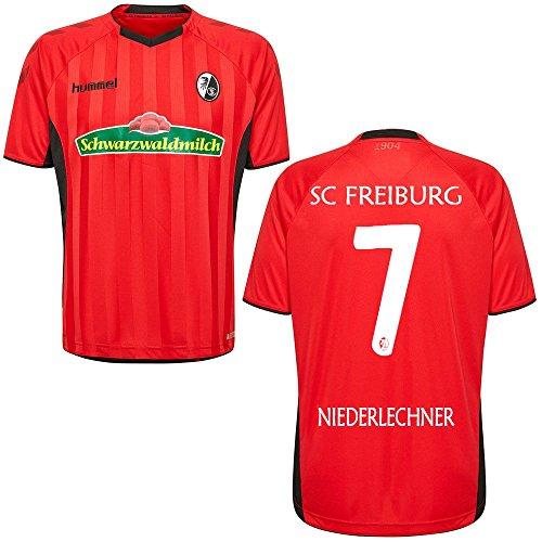 FanSport24 SC Freiburg SCF Heimtrikot 2018 2019 Home Trikot Herren Niederlechner 7 rot schwarz Gr XXL