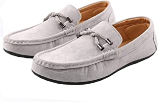 Men Loafers Shoes Spring Summer PU Breathable Slip On Flat Solid Color Moccasins Driving Casual Shoes Men