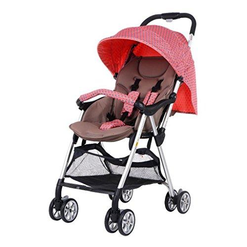 A&D Baby kinderwagen kan zitten horizontale paraplu draagbare vouwen twee-weg vier-wiel schokdemper pasgeboren vier seizoenen universele reizen zonnescherm met een hand vouwen