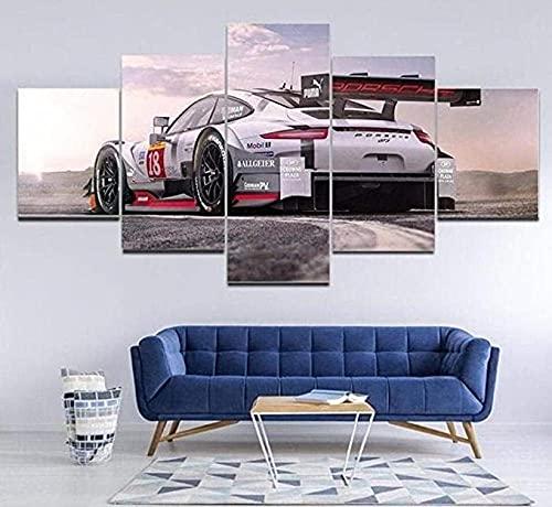 Impresión En Lienzo 5 Piezas Cuadro sobre Lienzo 5 Piezas Cuadro En Lienzo 5 Piezas Lona Murales Cuadro En Lienzo 5 Piezas Porsche 911 Decoración para El Hogar Póster