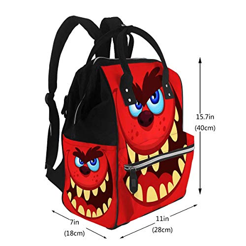 NA Wickeltaschen Zurück zur Schulbus-Template Monster Wickeltaschen Rucksack