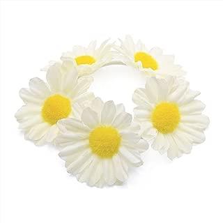 Flower Bun Garland Floral Hair Top Head Knot Scrunchie Band Elastic Bridal in Ivory