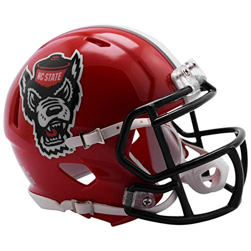 NC State Wolfpack Red Tuffy Officially Licensed Speed Full Size Replica Football Helmet