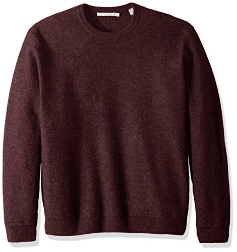 Vince Men's Simmered Cashmere Oversized Crew Neck Sweater, Shiraz, M