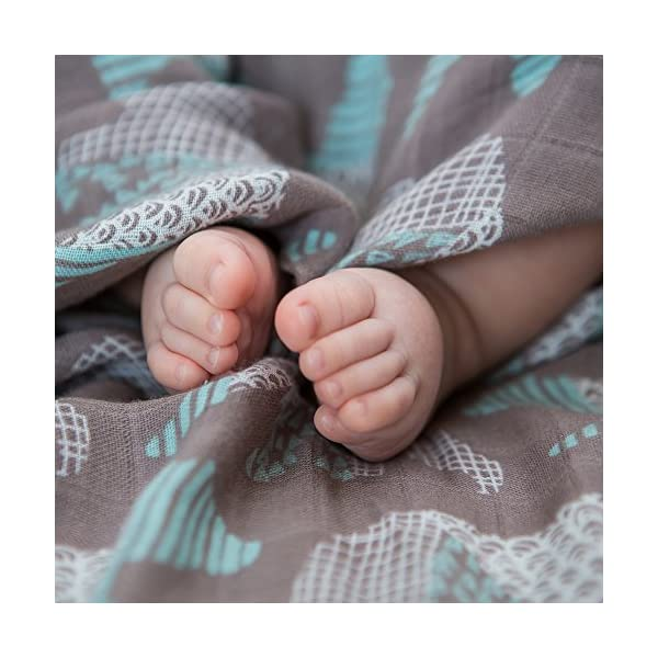 LifeTree Paños Muselina Bebe, Muselina Manta Bebé Suaves para bebé, ideal como Pañales de Tela, Toallas para Leche…