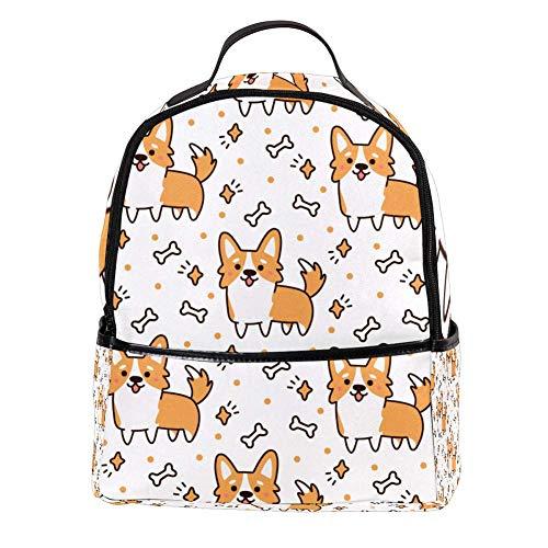 OKONE Laptop Rugzak Leuke Hond Casual Schouder Daypack voor Student School Tas Handtas Lichtgewicht