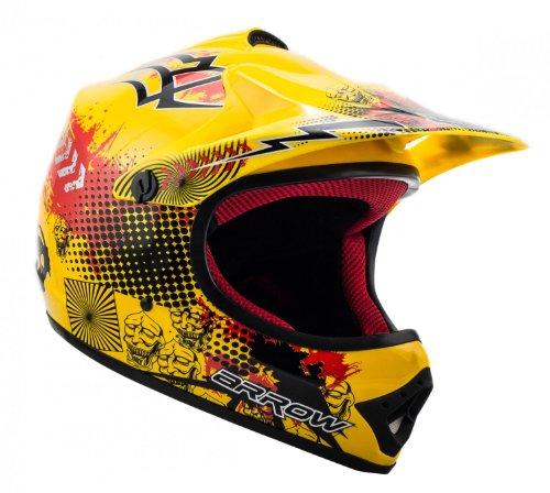 "ARMOR · AKC-49 ""Yellow"" (Gelb) · Kinder-Cross Helm · Enduro Kinder Off-Road Sport Motorrad Moto-Cross · DOT certified · Click-n-Secure™ Clip · Tragetasche · S (53-54cm) - 2"